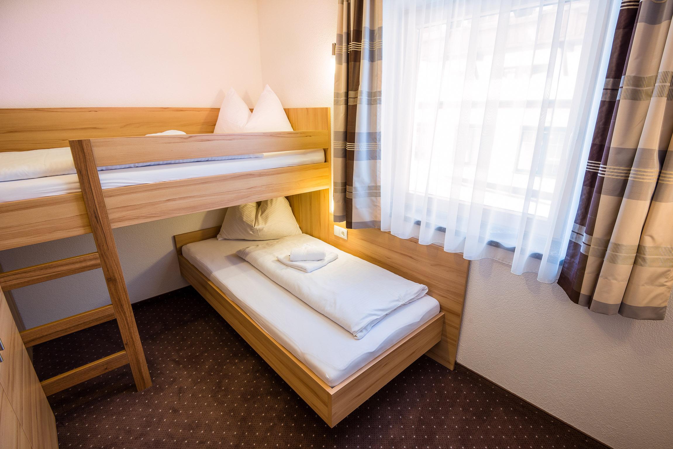 Apartment 2 Zimmer mit Stockbett